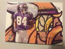 1999 SkyBox Molten Metal Patchworks Randy Moss #12 LOGO PATCH, RARE MOSS HERE!