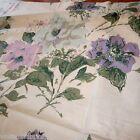 46CM X 106CM PURPLE PINK FLOWER VINTAGE 1950S COTTON CHINTZ CURTAIN FABRIC RETRO