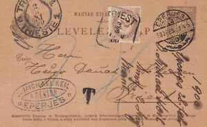 1900. Hungary. Inland postcard in old currency taxed