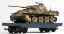 G Scale German WWII Panther Tank loaded on Flat Car
