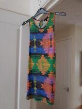 Top Shop Multi Coloured Sleeveless Top, Cotton Blend, Size 8, Good Condition