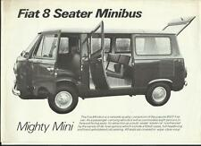 FIAT 8 SEATER MINIBUS 'VAN TRUCK' SALES BROCHURE MID 70's