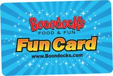 $100 / 2 $50 Boondocks Gift Cards