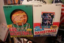 1986-87 Fleer Basketball Empty Box + 1987-88 Box Great Condition Jordan Rookie