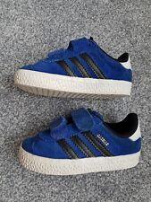 Adidas Gazelle enfant BLEU Taille 4 bébés Enfants Garçons RRP £ 29.99