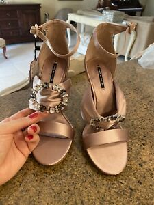 zara women shoes 39 pink and gems