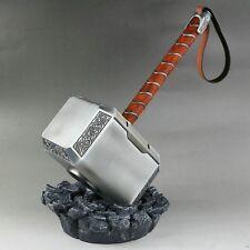 MARTILLO DE THOR  MJOLNIR AVENGERS, Cosplay escala 1/1, hecho en metal y cuero