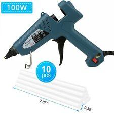 100W Hot Melt Glue GunProfessional Tool with 10PCS Sticks for Crafts