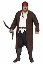 Ahoy Matey Caribbean Pirate Buccaneer Adult Costume, Plus Size