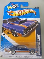 Mattel Hot Wheels Car Blue '68 Dodge Dart Muscle Mania Mopar '12 81/247