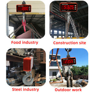1000KG Electronic Crane Scale Balance LCD High Accurate Heavy Duty Hanging Hook