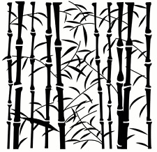 BAMBOO MINI STENCIL TREE PLANT STENCILS LEAVES TEMPLATE CRAFT PAINT NEW BY TCW