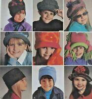 2002 McCalls Sewing Pattern #3836 Childrens Hats & Mittens Accessories 6783F