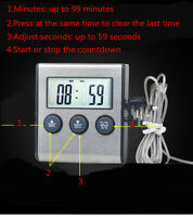 Hot Sale Digital Probe Oven Food Cooking Timer Thermometer For BBQ Kitchen