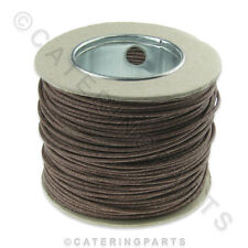 100m ROLL BROWN HEAT RESISTANT WIRE CABLE HIGH TEMPERATURE FOR OVENS COOKERS ETC