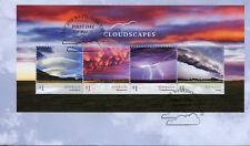 Australia 2018 FDC Cloudscapes Clouds Cumulonimbus Arcus 4v M/S Cover Stamps
