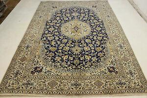 Beautiful Oriental Rug 354x242 Nain Persian Carpet Top N°4 with Silk