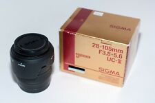 Sigma Zoom UCIII 28-105mm f3.8-5.6 Lens Canon EF hood filter caps READ (#1115)
