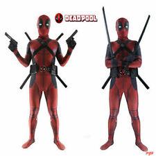 Halloween Adult / Kids Deadpool Spandex Costume Cosplay Jumpsuit Zentai Suit