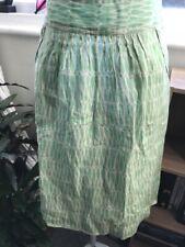 BODEN Green & White Linen Pocket Skirt - Size 14 R