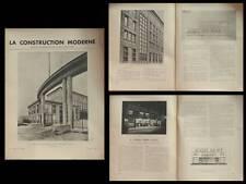 LA CONSTRUCTION MODERNE -n°28- 1936 - AUGUSTE PERRET, MOBILIER NATIONAL, PEREIRE