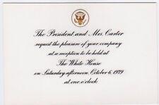 1979 Pope John Paul II White House Reception Invitation