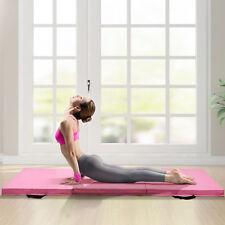 Exercise Tri-Fold Gym Mat For Gymnastics, Aerobics, Yoga, Martial Arts, Pink