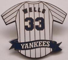 David Wells Lapel Hat Pin New York Yankees Jersey #33 MLB Baseball