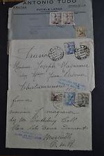 lot 3 lettres censurées 1943 SOLER BALEARES PALMA DE MALLORCA