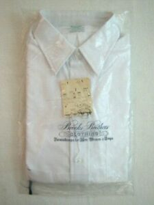 NOS Vintage BROOKS BROTHERS Mens Dress Shirt Size 15.5 Short Sleeve Super Rare!
