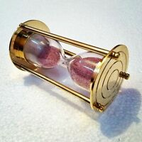 Antique Sand Timer Brass Vintage Collectible Decorative Item