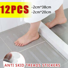 12Pcs Transparent Non-Slip Stair Tread Clear Tape Waterproof Strong Floor Stick