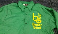 Baylor Bears Vintage Band Snap Jacket Coat Adult Medium Green University Of NCAA