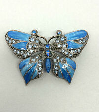 Butterfly Blue Costume Brooches & Pins