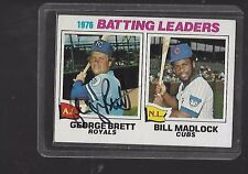 *GEORGE BRETT*  1977 Topps Leaders Hand-Signed Auto  KANSAS CITY ROYALS