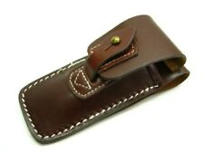 Carry All Brown Leather Belt Sheath Pouch For Folding Knife Or Tool Up To 4-1/2""