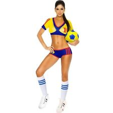 World wide Countries Adult Female Football Costume Cheerleader Dress (Colombia)