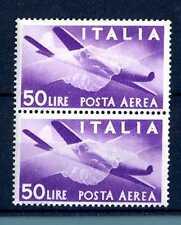 """ITALIA REP. - PA - 1947 - Serie """"Democratica"""" - Filigr. Ruota  - 50 L. - X116"""