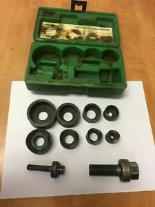 """Greenlee 735BB Ball Bearing Knockout Punch Set Complete 1/2 """", 1"""", 3/4"""", 1 1/4"""""""