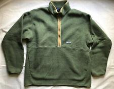 Patagonia Synchilla Fleece 1/2 Zip Green Vintage Mens Sz XL