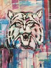 "JOSE TRUJILLO - Arizona Wildcats UofA Abstract Wall Art Cat Acrylic Paper 30X40"""