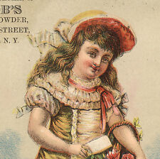 1880's NEWBURGH, NY LG TRADE CARD,  JACOB'S BAKING POWDER at 92 WATER St. TC2290