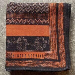 "MEN'S JAPAN ART BROWN STRIPED HERRINGBONE HANKY POCKET SQUARE HANDKERCHIEF~17"""