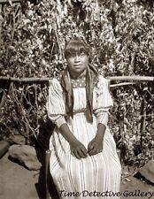 Yokut Indian Girl,Tule River Reservation, Calif. c1900- Historic Photo Print