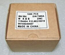 Box of 1000 - M4 x 6m Zinc Phillips Pan Head Machine Screws DIN 7985A