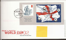 GB FDC 2002 World Cup m/s