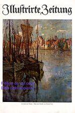 Im Hafen von Wismar XL Kunstdruck 1920 von Gerhard Graf * Berlin Titelseite +