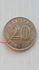 1971*A-UNC*MALAYSIA 20 SEN TWENTY CENT COIN-KM#4