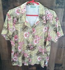 SHENANIGAN'S EXTRA LADIES FLORAL PRINT BUTTON DOWN SHIRT SIZE 2XL