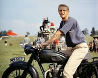 """STEVE McQUEEN IN THE FILM """"THE GREAT ESCAPE"""" - 8X10 PUBLICITY PHOTO (ZY-414)"""